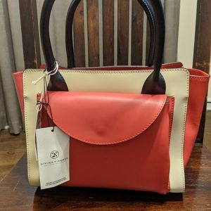 Handmade Italian color block bag